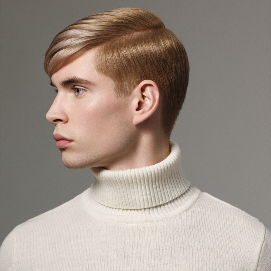Preppy Look With A Neat Hairstyle And A Turtleneck For Men