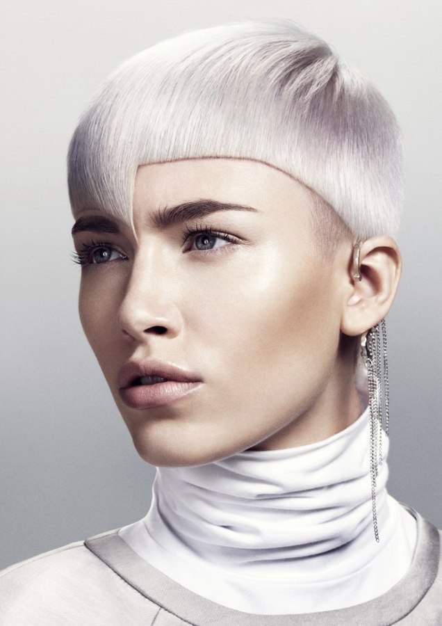 short round hairstyle with a tight fit and an unfolded