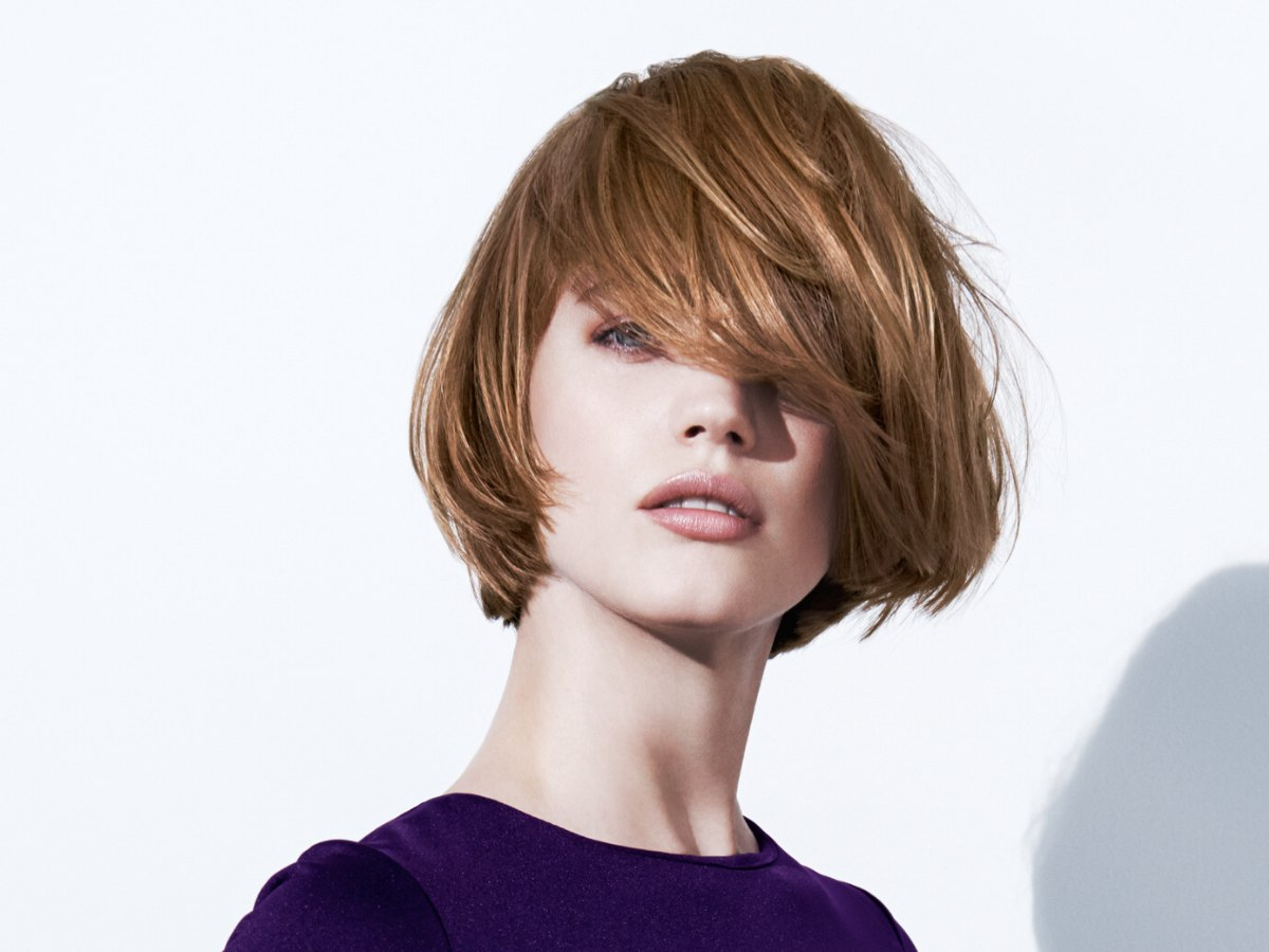 Chin Length Tapered Bob With Lots Of Motion