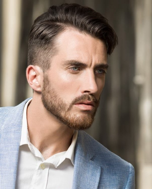 Easy to maintain sophisticated hairstyle for men