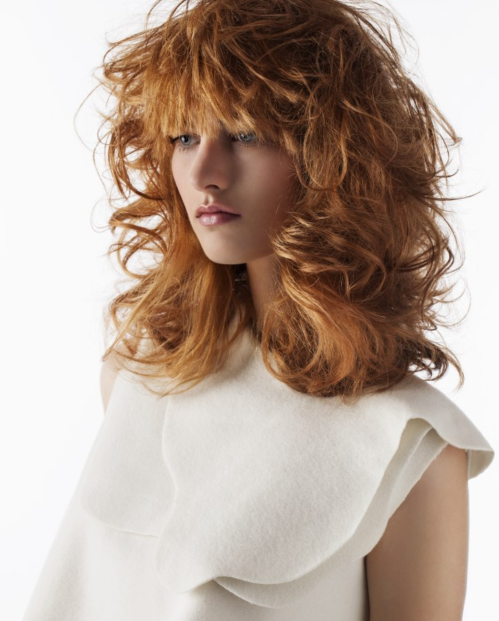 Hairstyles For Teenage Girls 2010: Shaggy Hairstyle With Bed Headed Curls