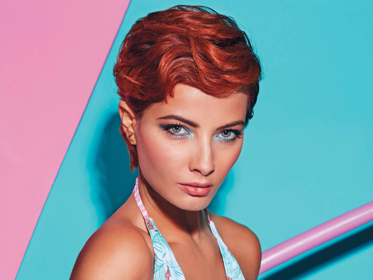 gel styles for hair hairstyle with finger waves and gel styling 8263