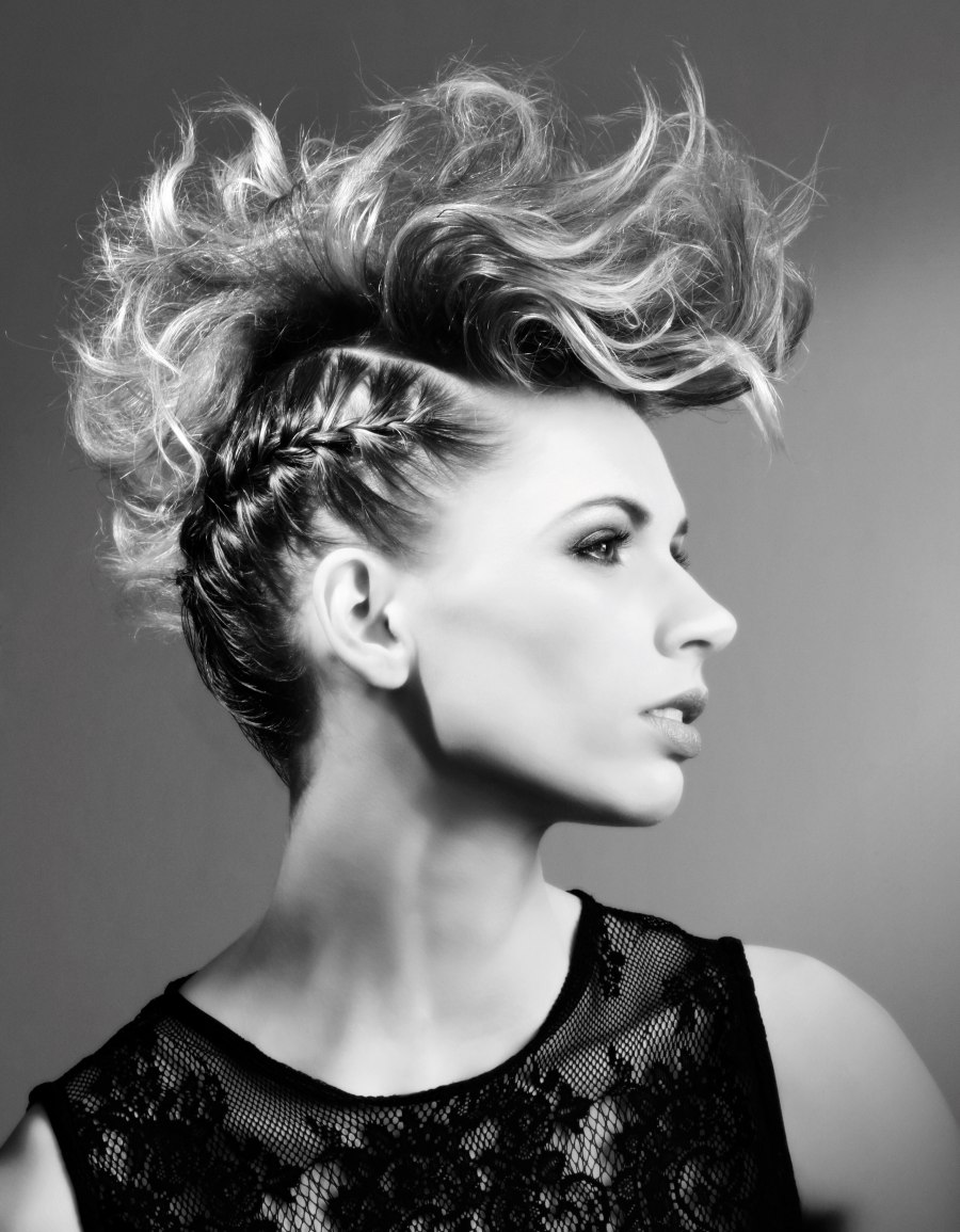 Faux Mohawk With Braids