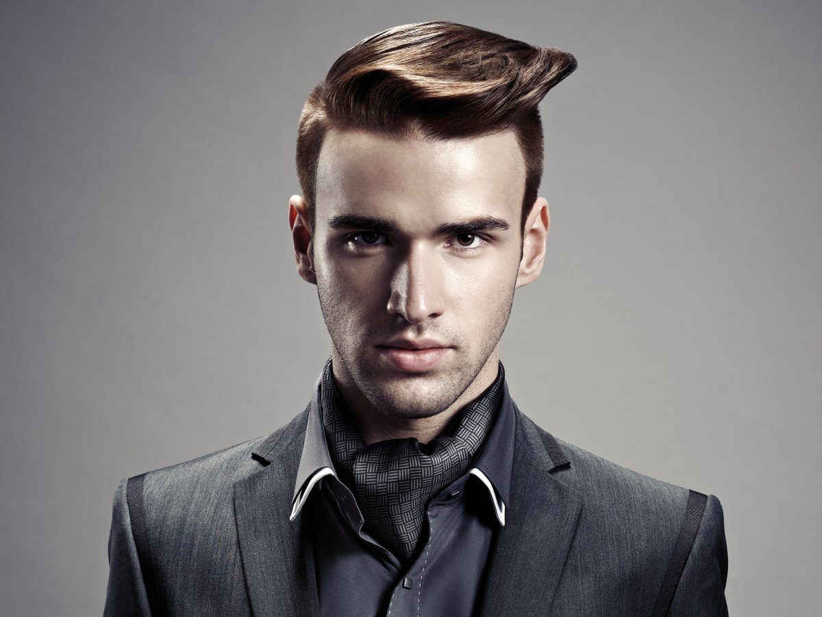 Men's Haircut With A Quiff