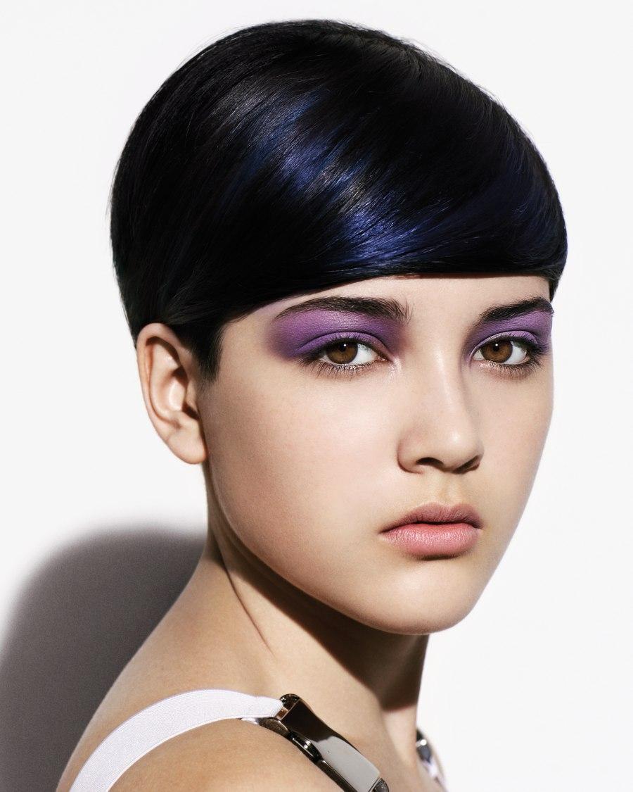 Short haircut for blue black hair