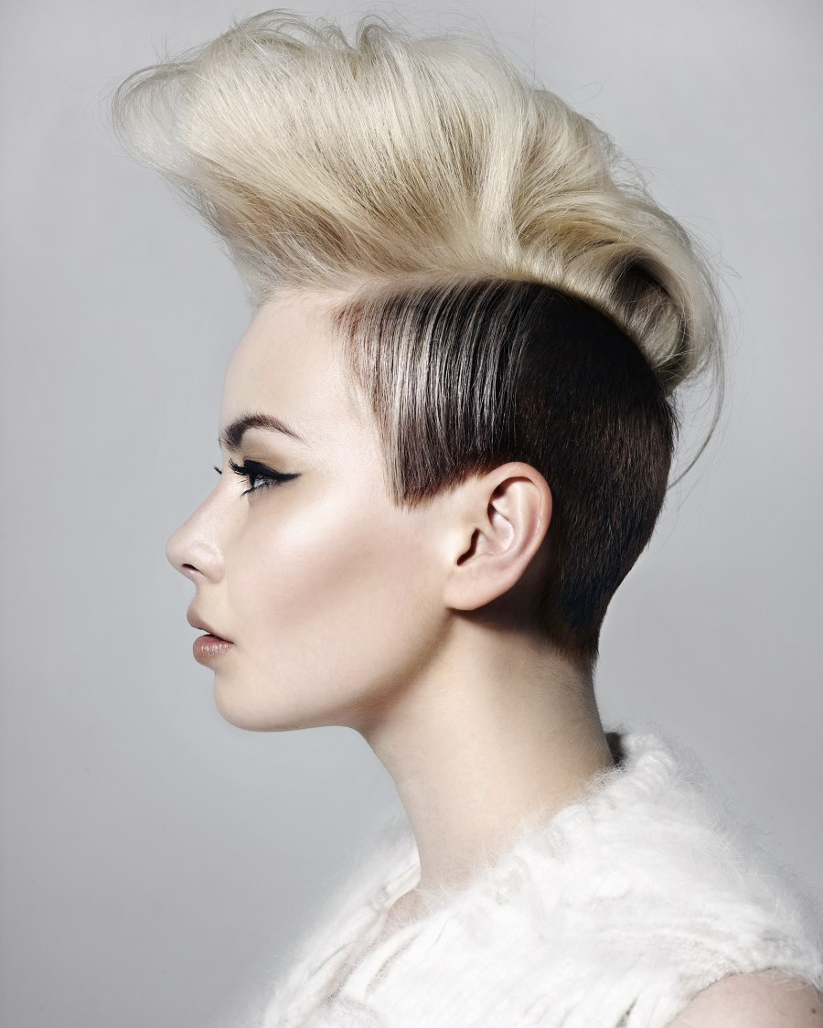 High Rising Mohawk Hairstyle