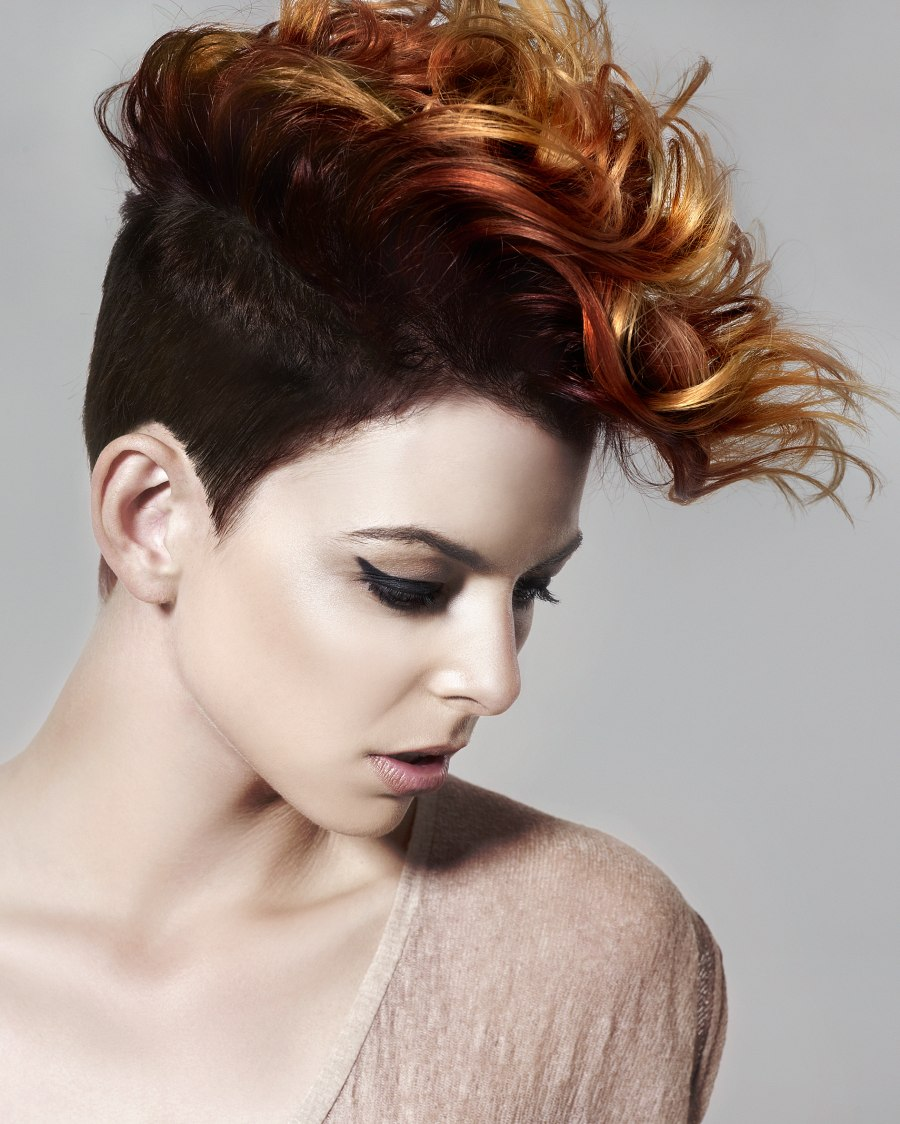 Remarkable Girl39S Mohawk With Short Clipped Sides Punk Hairstyle Hairstyle Inspiration Daily Dogsangcom
