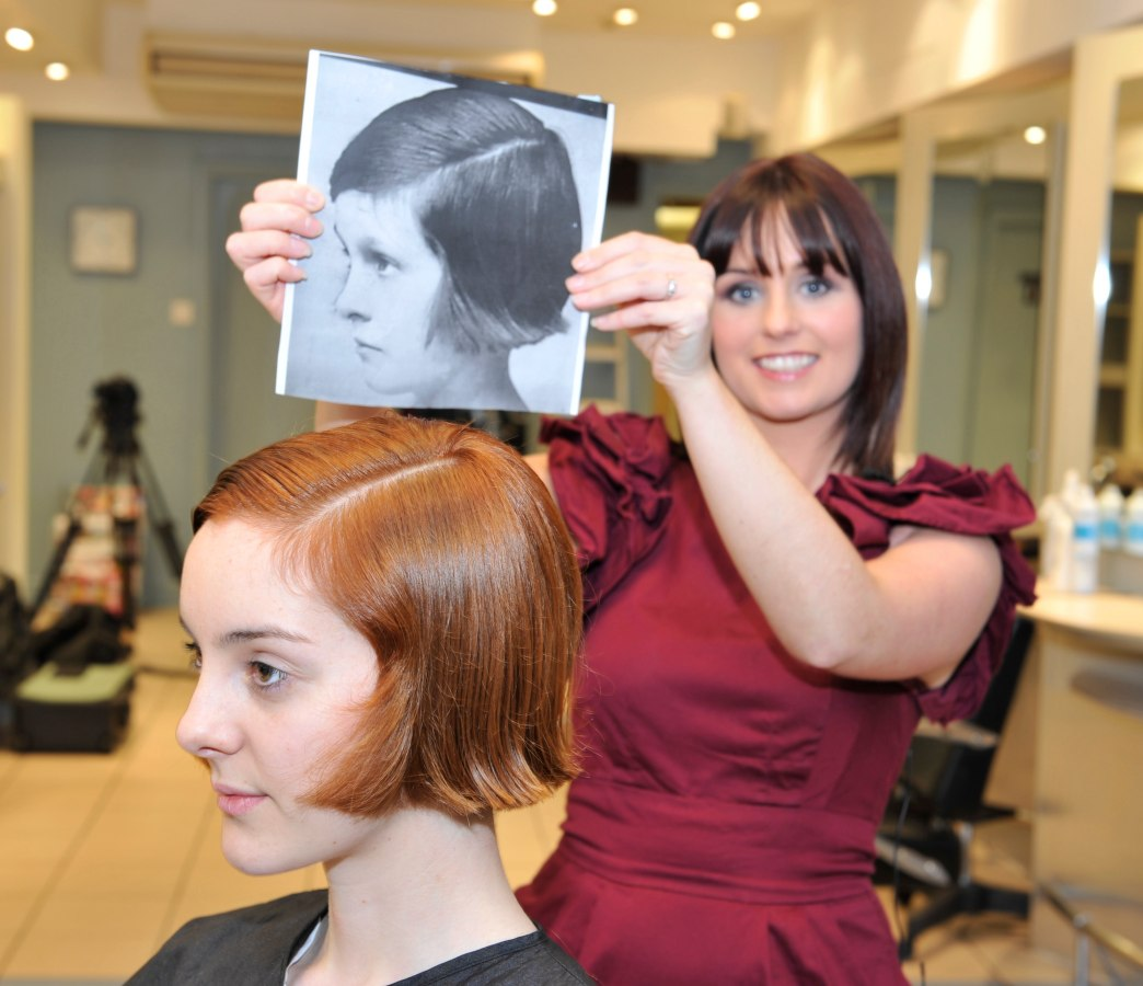retro 1920s bob with cinched sides