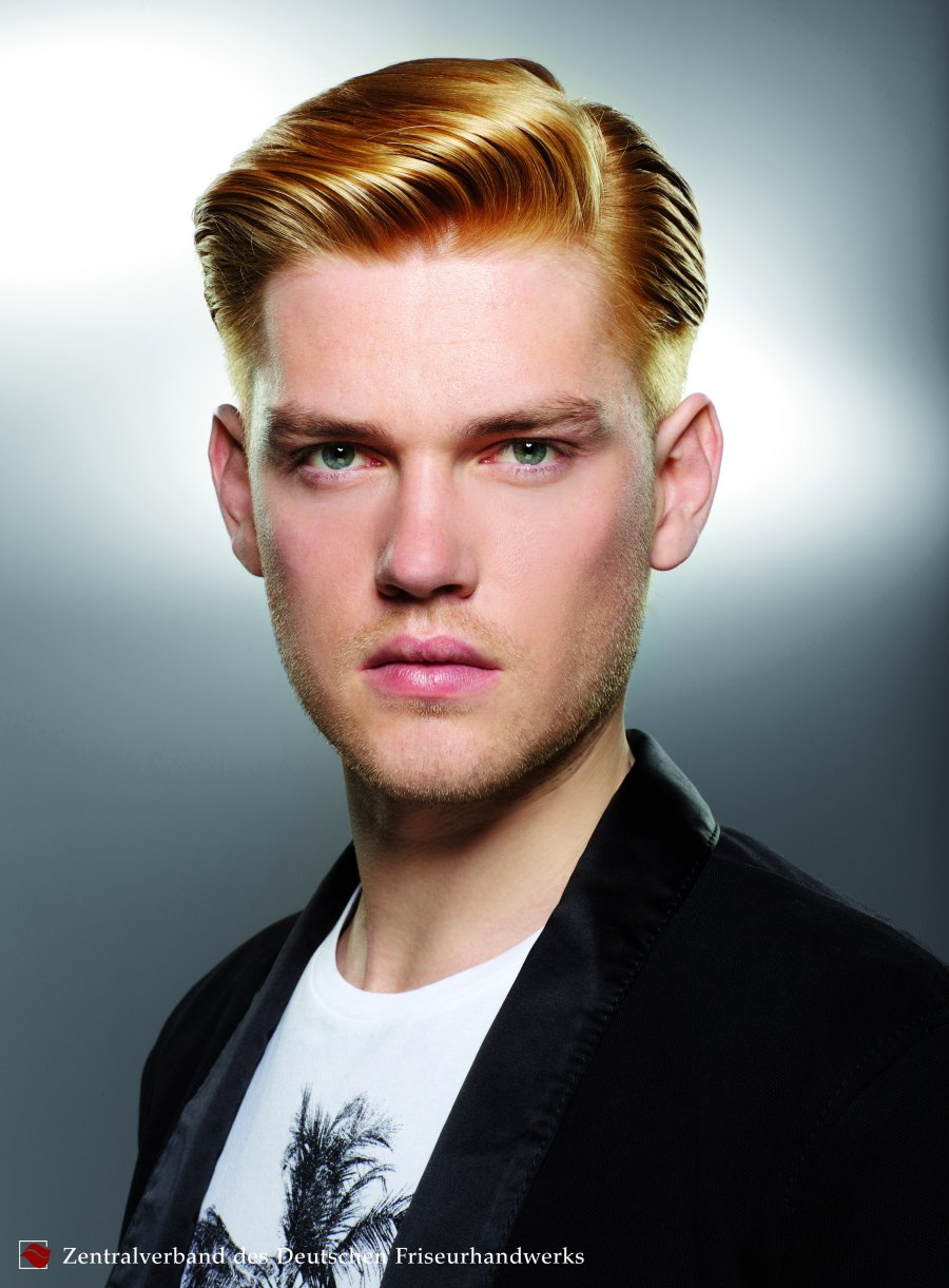 Mens' Hair With Undercut Sides And A Long Top Section
