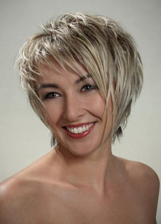 Modern Short Haircut With Spikes And A Silhouette That