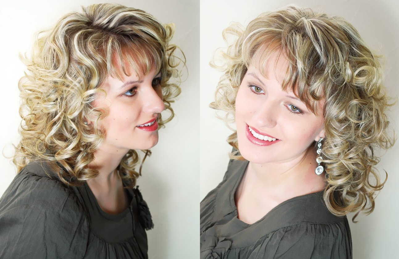 Festive Over The Shoulder Long Hair With Spiral Curls And