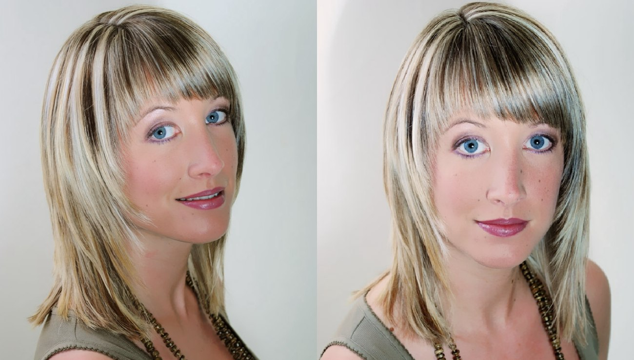 streaks in hair styles shoulder hairstyle with a steep tapered line and streaks 4144