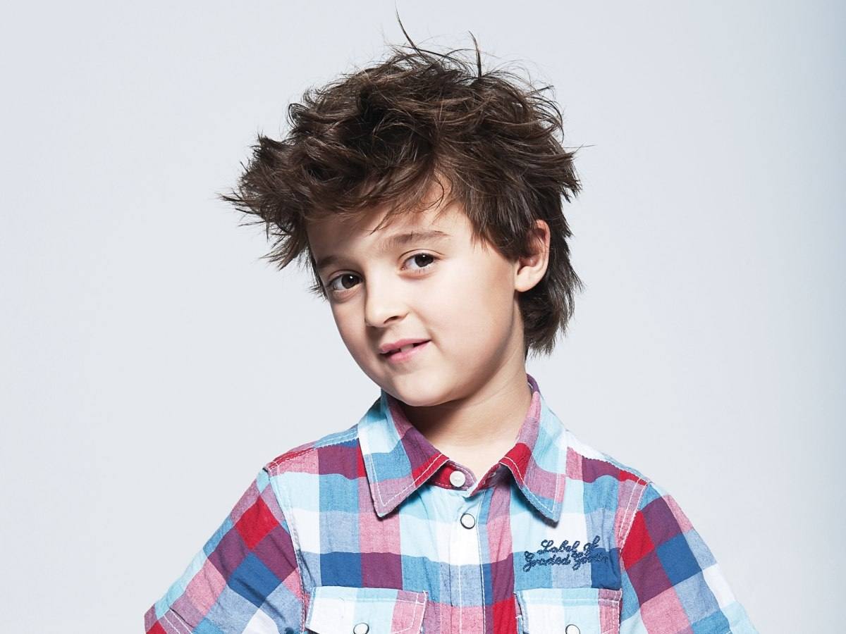Easy care haircut for little boys with thick coarse hair