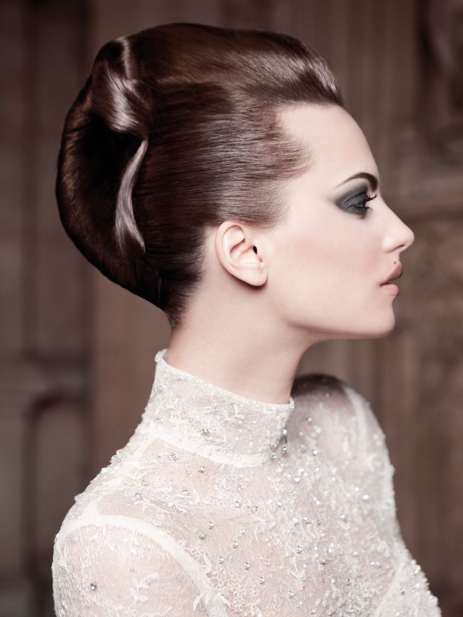 Updo With A French Twist And A Sleek And Polished Side