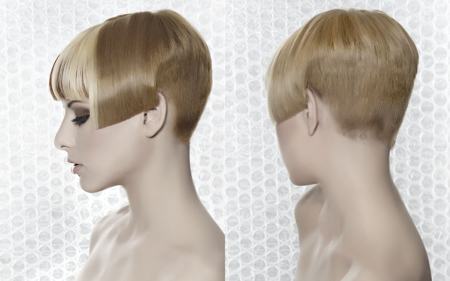side view of a very short haircut with a short nape