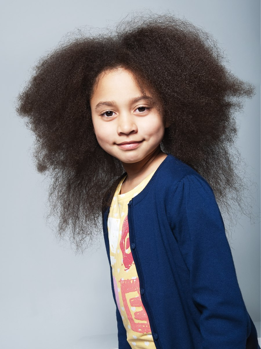 Hairstyle For A Little Girl With Long Frizzy Hair