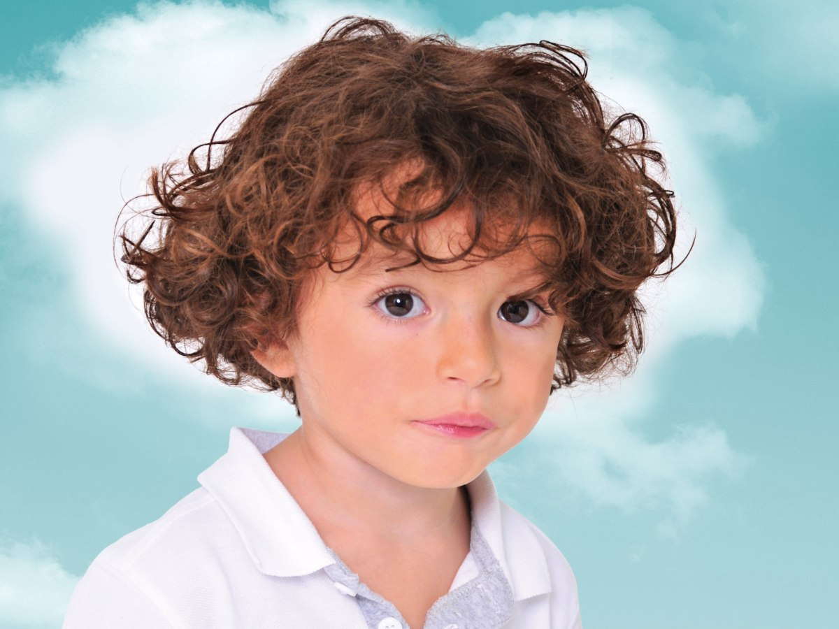 Fine Curly Hair Style For Toddlers And Preschool Boys Short Hairstyles Gunalazisus