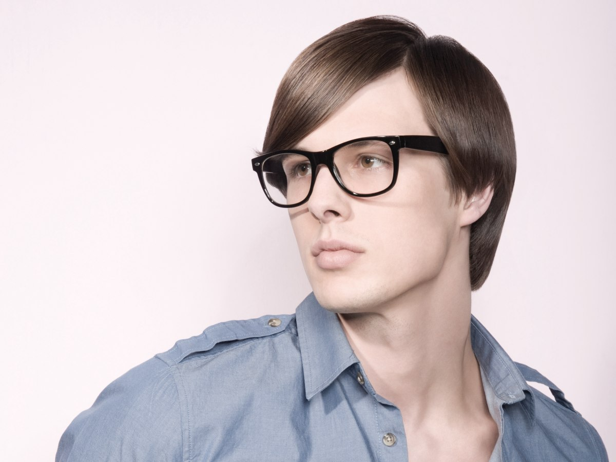 Men S Haircut For Wearers Of Glasses