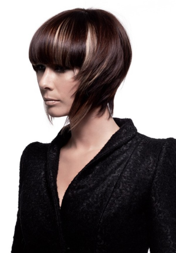 Short Hairstyle With The Sides Swept Forward