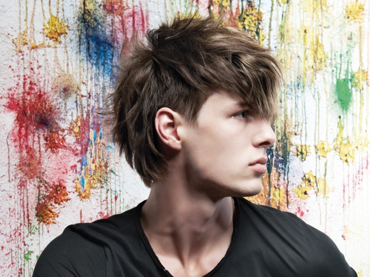 Rebellious Short Haircut For Men With Long Layers And Texture