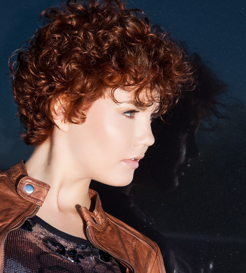 Easy Maintenance Sporty Short Haircut With Curls