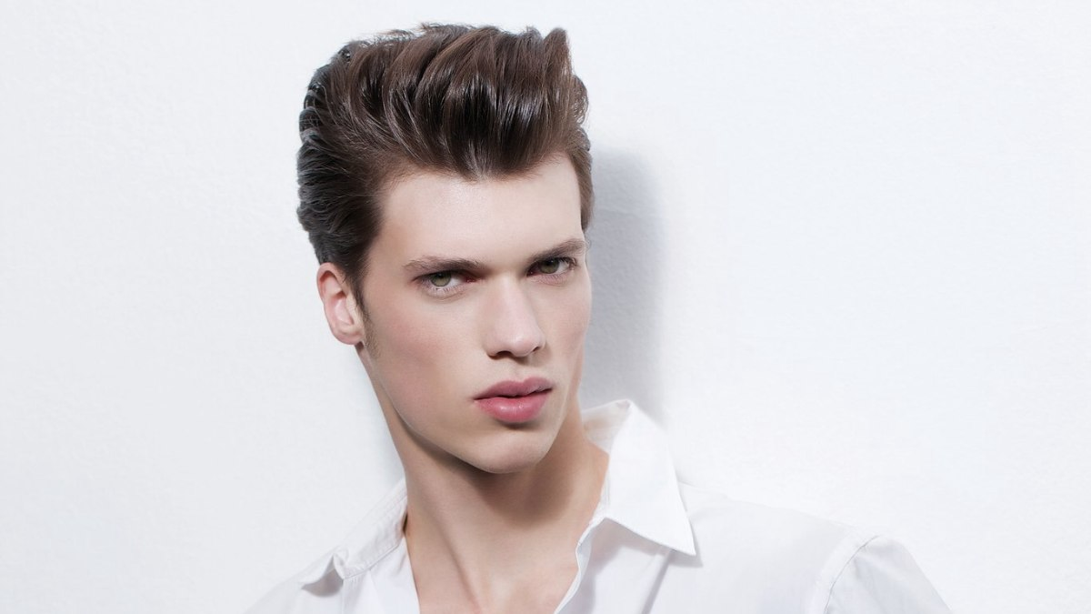 50s Men Hairstyles 50s slicked up hairstyle for