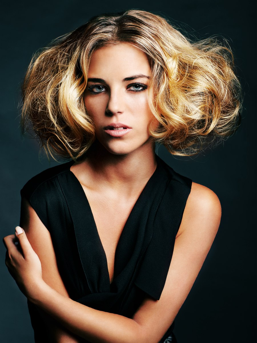tease hair style hair with a lot of volume that was created by teasing 6031 | sr8bg