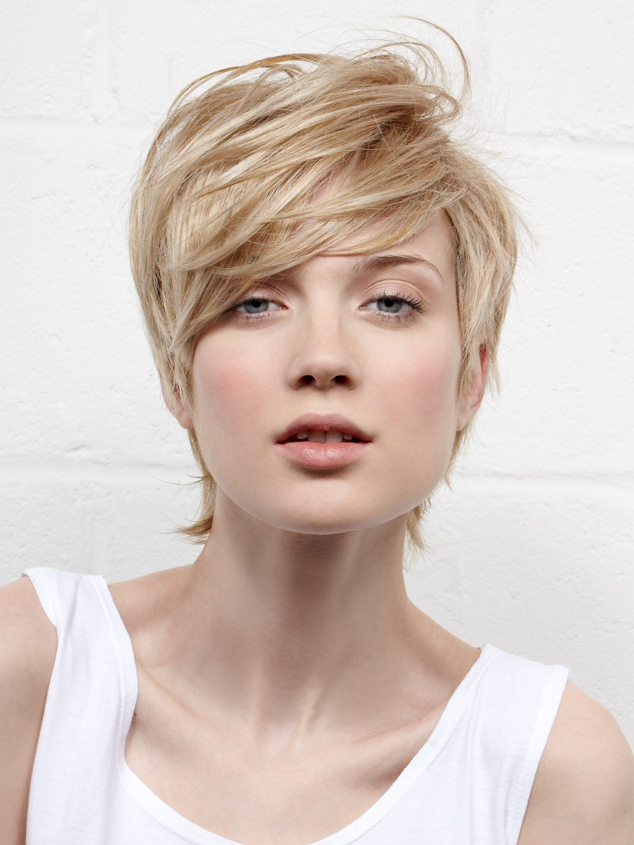 Layered Short Haircut With Neck Hair That Almost Reaches
