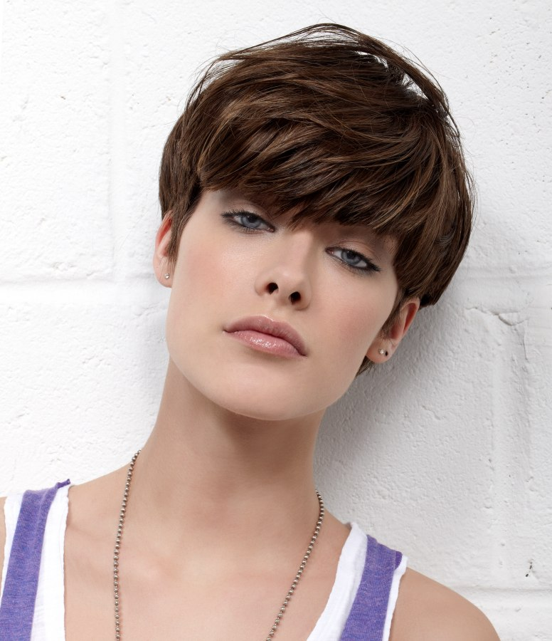 Admirable Short Mushroom Haircut With Super Short Graduated Sides Short Hairstyles For Black Women Fulllsitofus