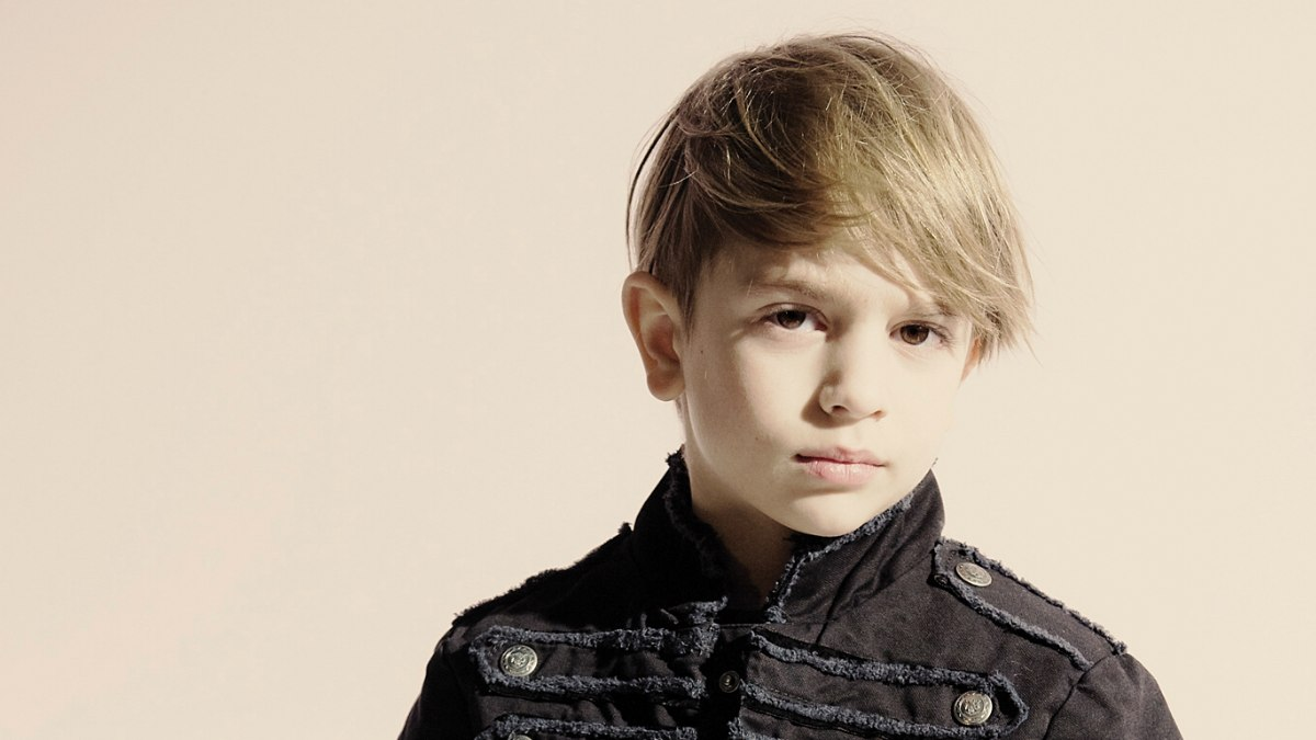 Trendy Haircut With A Long Fringe For Little Boys