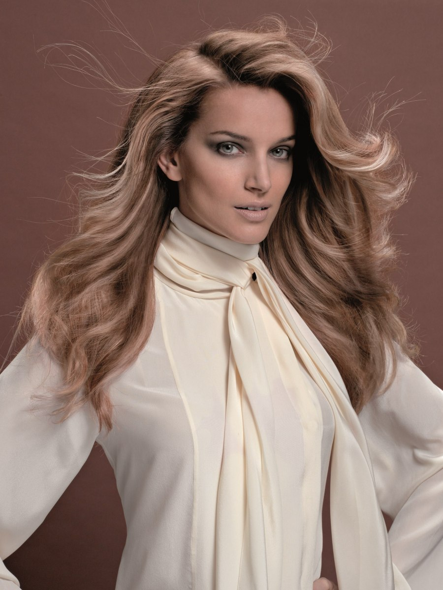 Groovy Big 70S And 80S Hairstyle For Long Blonde Hair Hairstyle Inspiration Daily Dogsangcom