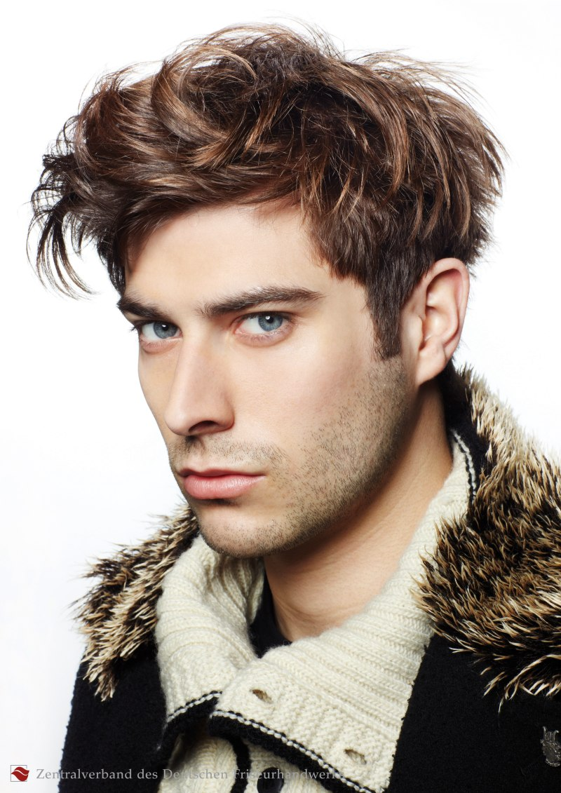 wild and untamed look for men with front crown hair that