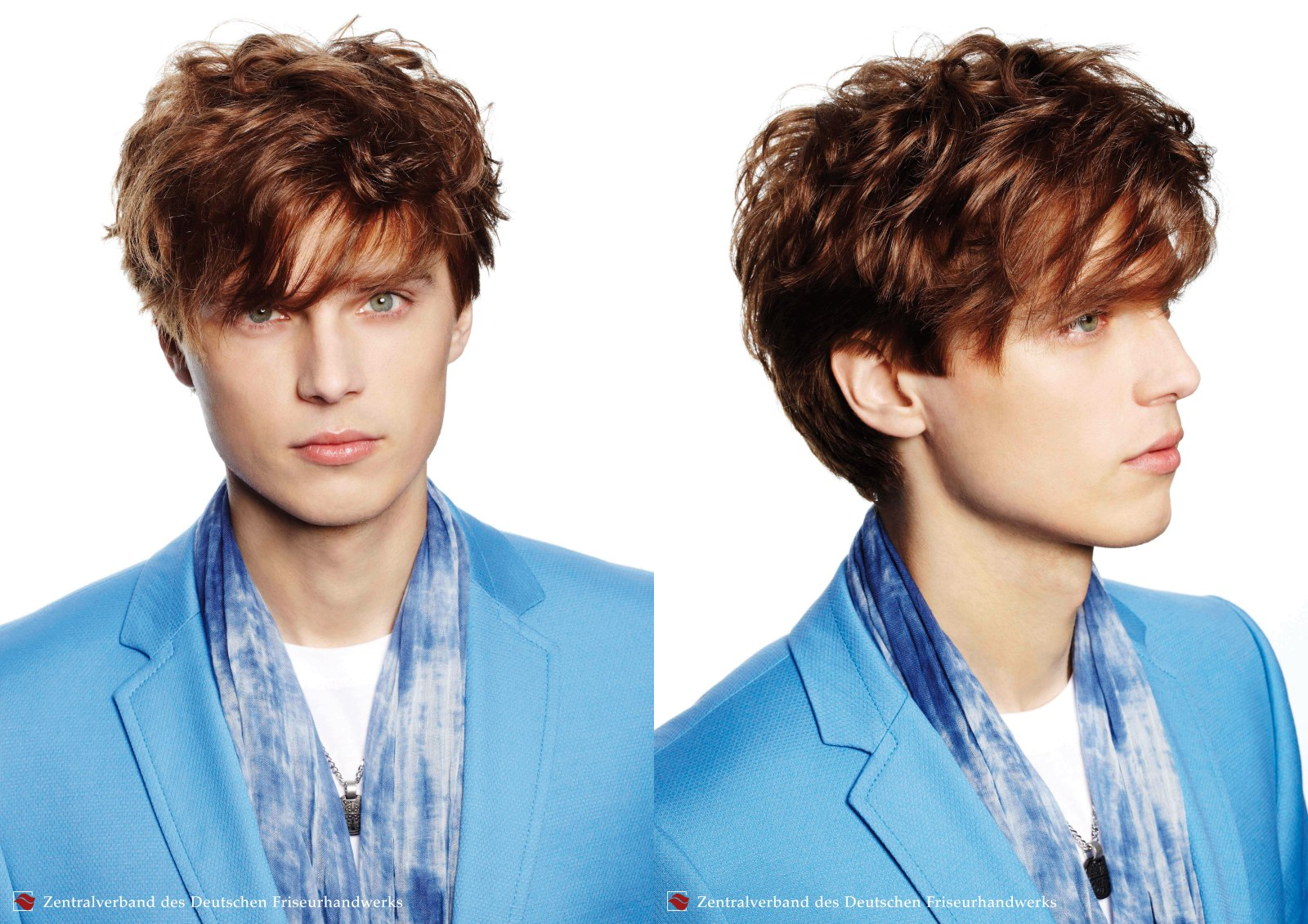 Handsome hairstyle for young men, with the hair styled towards the ...