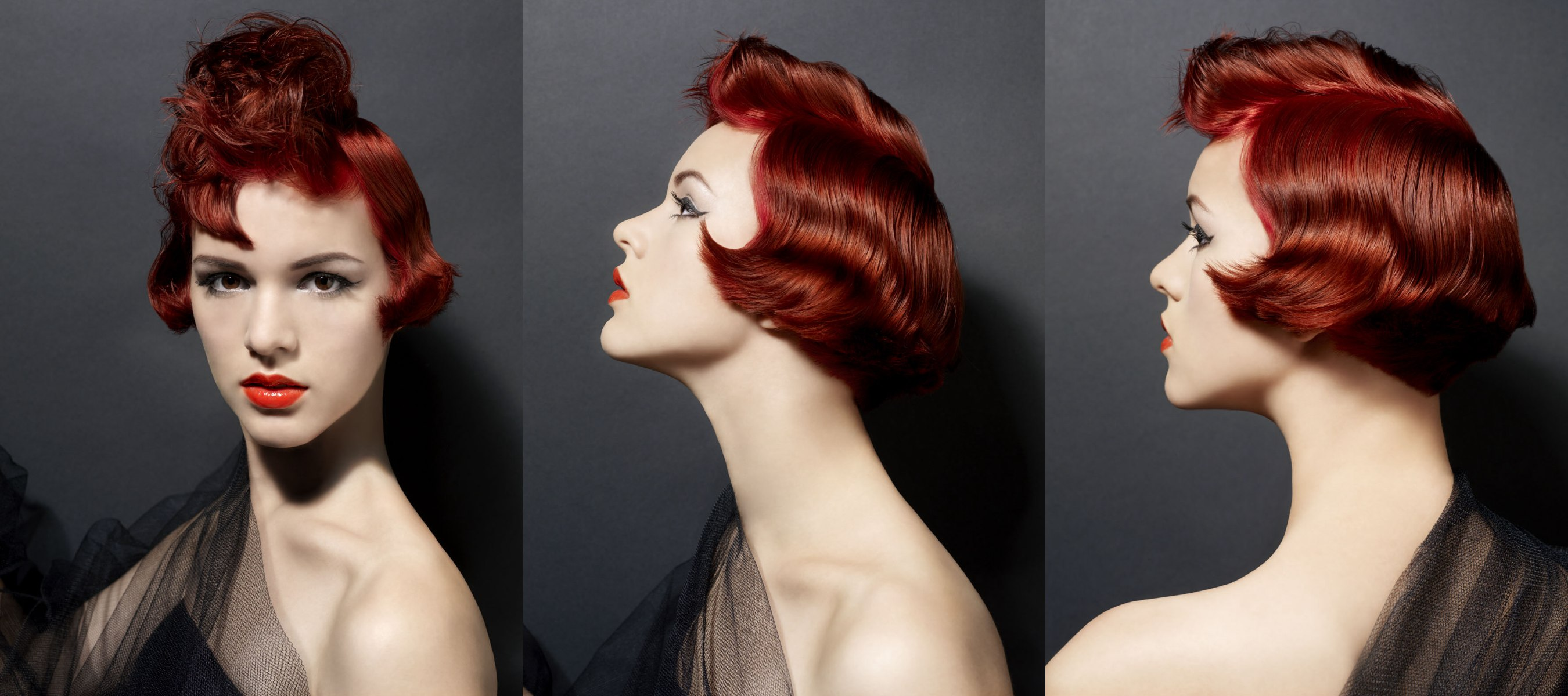 Red Hair Color For A Glamorous Bob With A Fluffy Conundrum