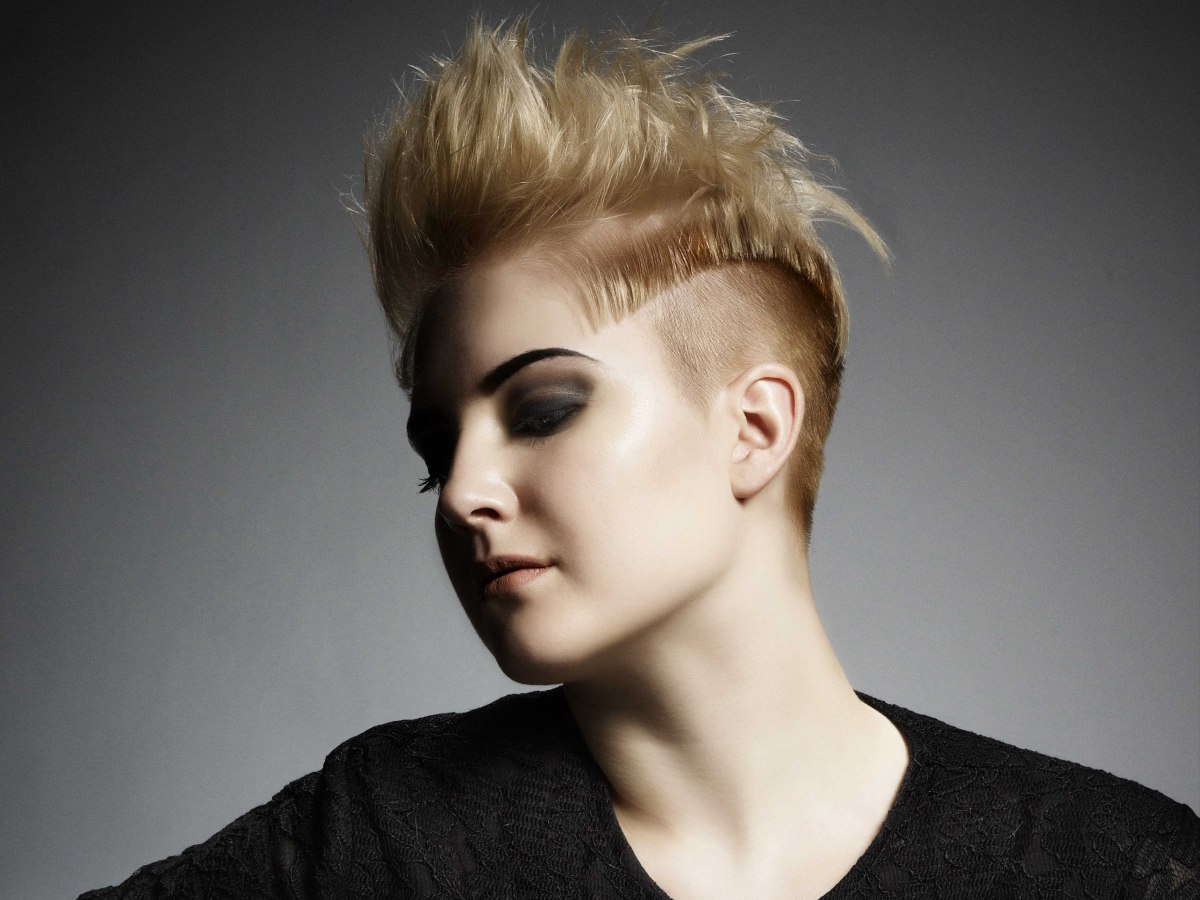 Bristle short hair with buzz cut sides and a Mohawk