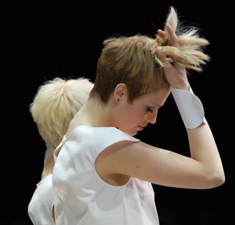 back view of a short haircut with a short nape
