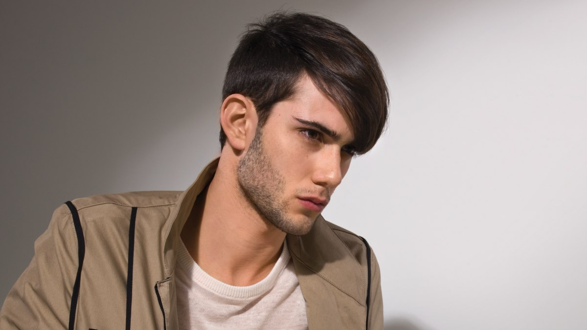 Man's haircut created with clippers for a masculine look