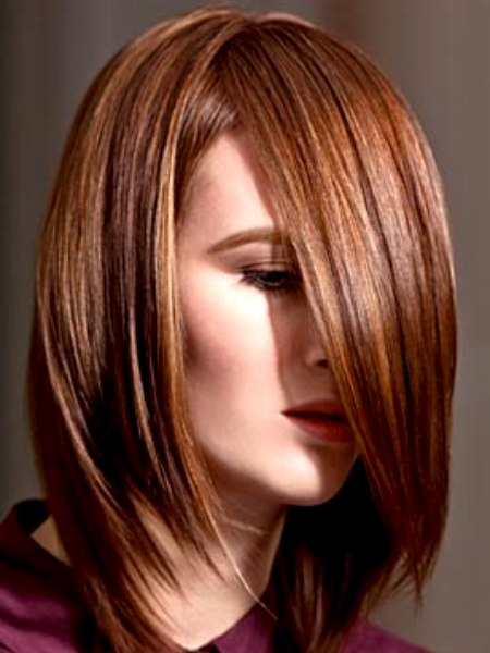 Medium Long Straight Hairstyle With Smooth Layers And