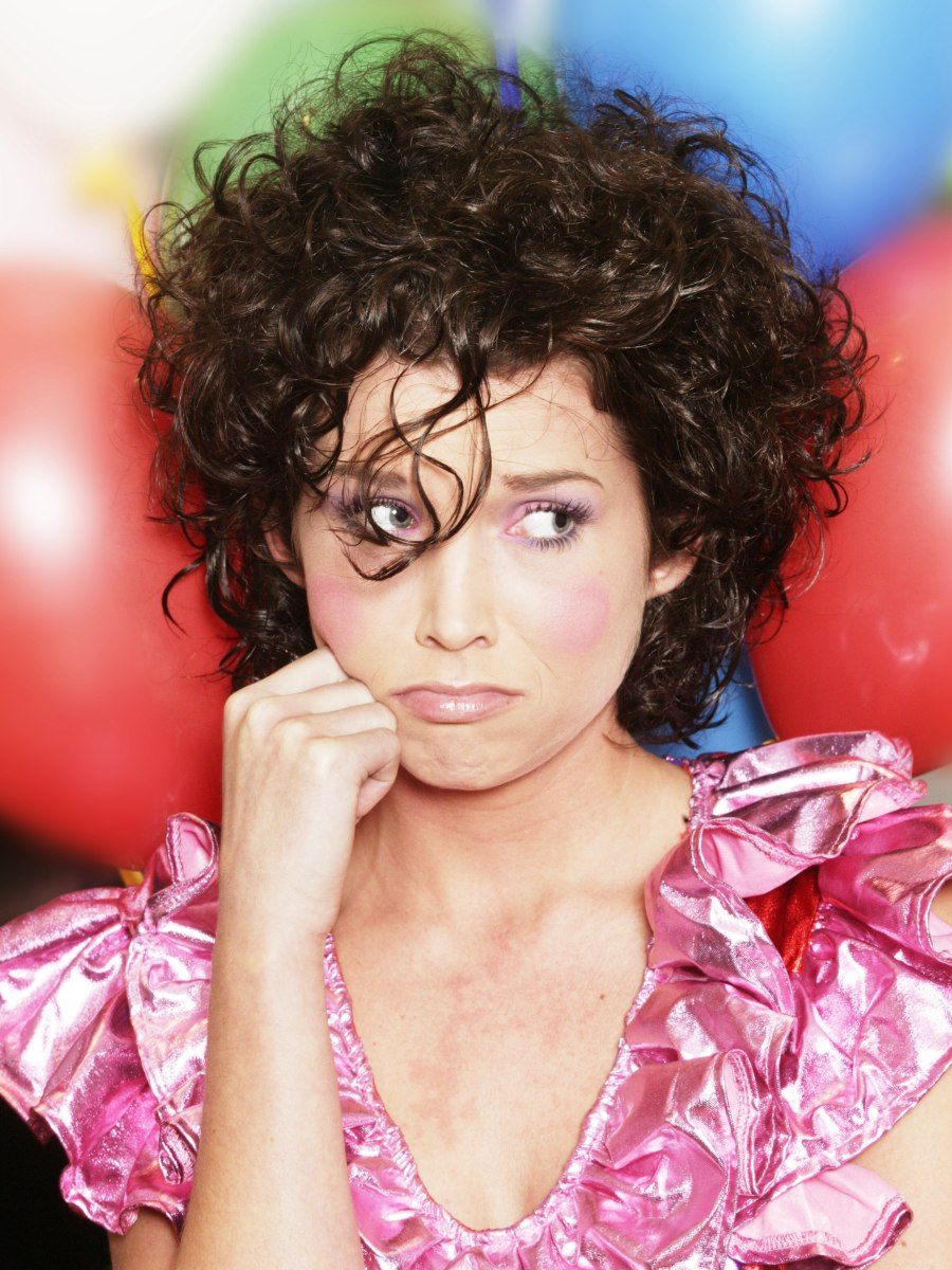 curly hairstyles hairstyles for clown hairstyle curls with an up and cut 661