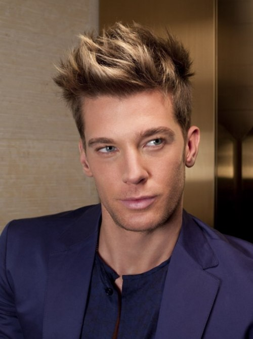 Blonde highlights spiky hair cute hairstyle kacang polong kecil hair color highlights for men pmusecretfo Choice Image