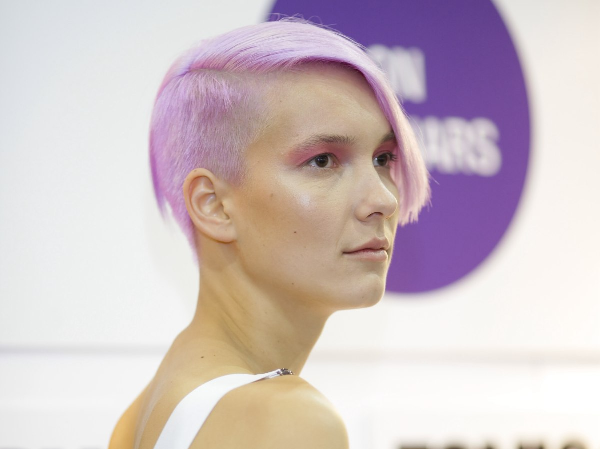 Edgy Short Haircut And A Soft Lavender Hair Color