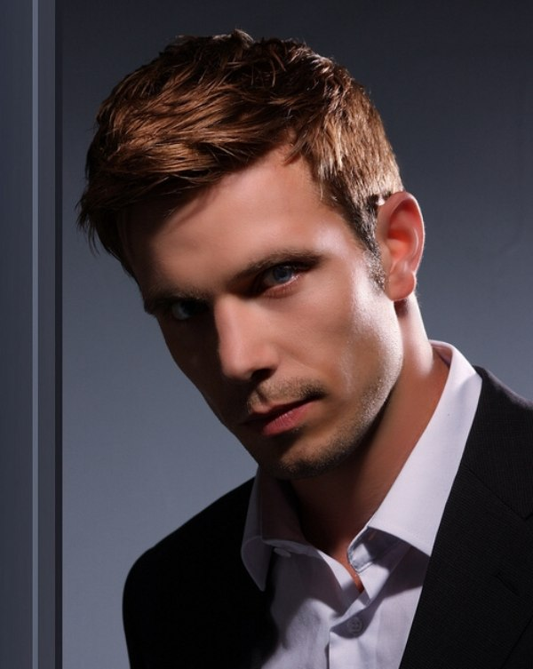 Casual And Neat Men S Haircut With Sideburns For A Redhead