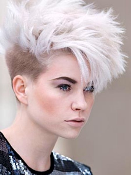 Short Punk Haircut With Millimeter Length Buzzed Sides
