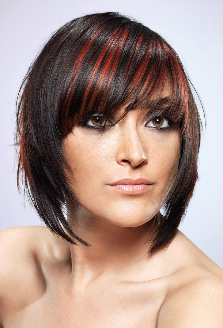 Streaked Bob Hairstyle Lightweight And Easy To Maintain