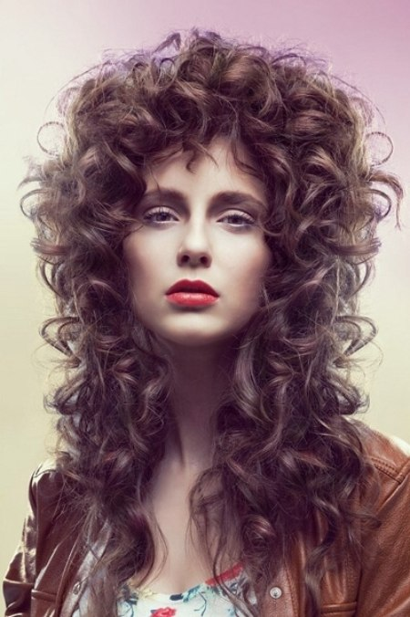 Very Long Hairstyle With Baroque Curls