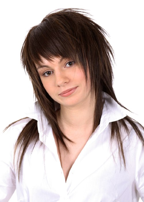 Pleasant Long Mid Upper Back Haircut With A Choppy Pointy Texture Short Hairstyles Gunalazisus