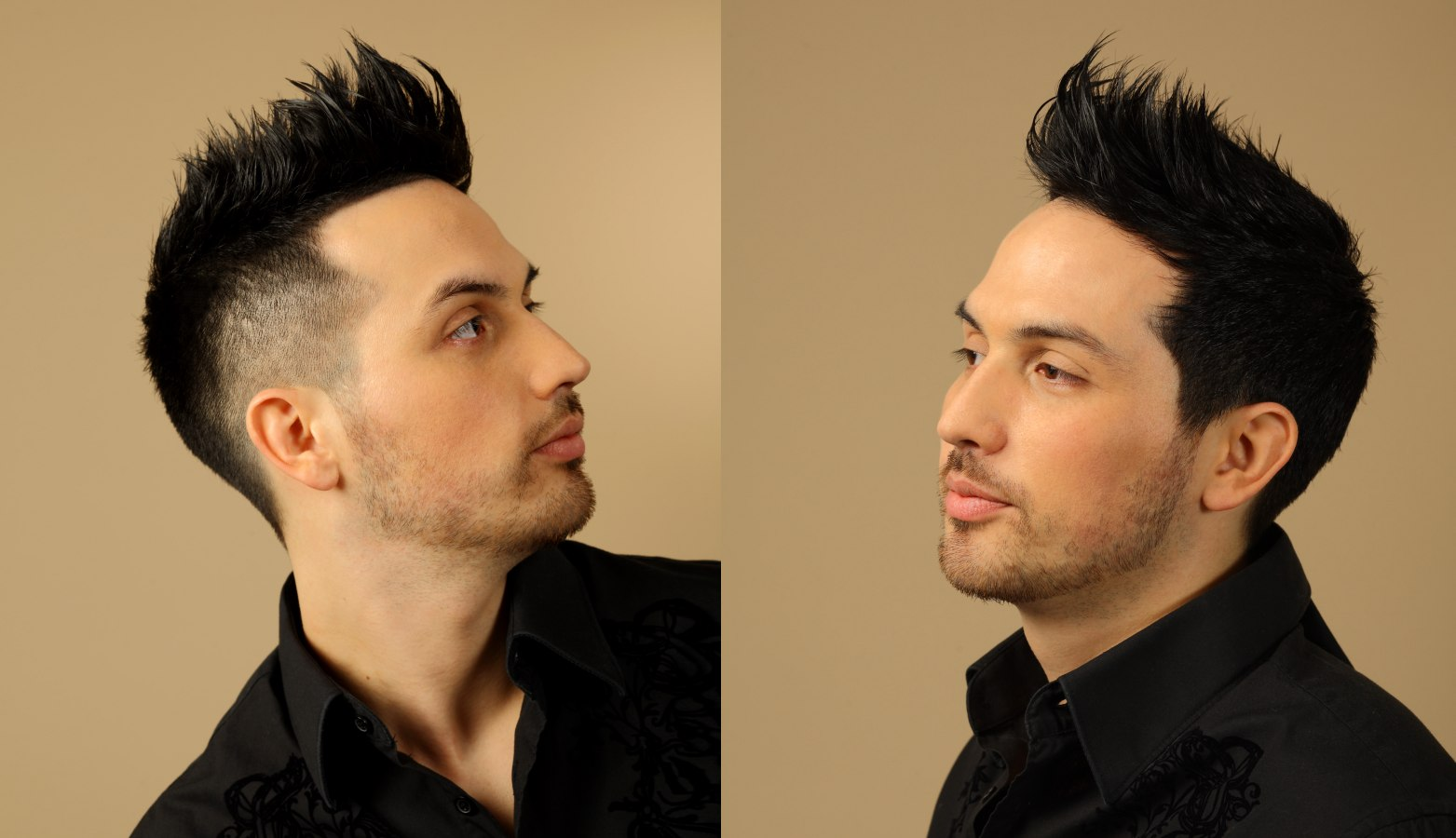 mohawk hairstyle with buzzed sides and buzz cut neckline