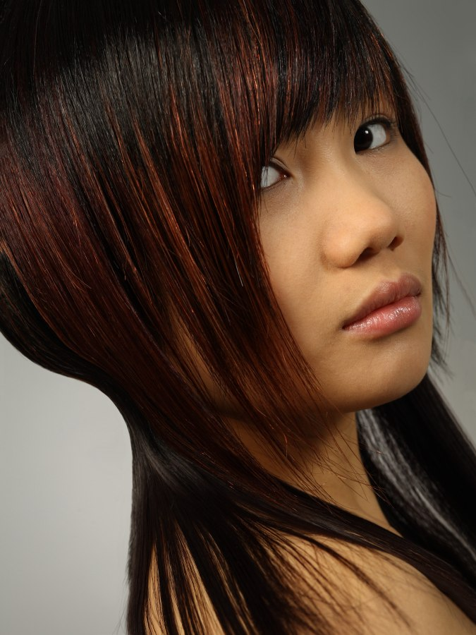 Shoulder Long Asian Hair With A Round Silhouette And