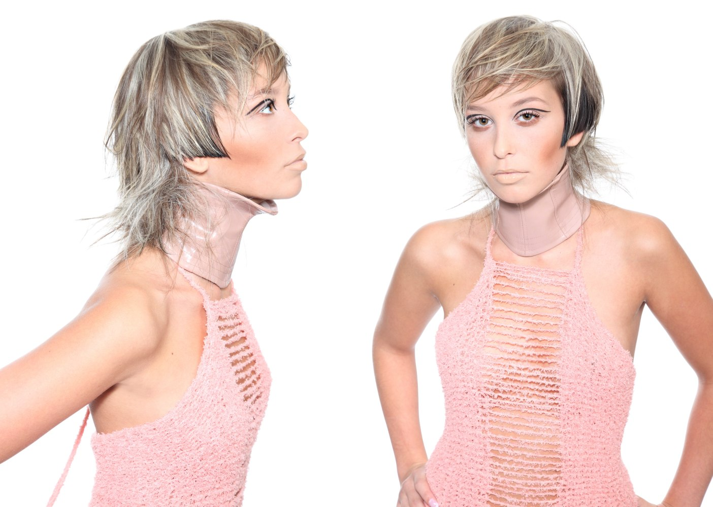 Cool Hair Color Styles: Hairstyle With A Play Of Light And Dark Hair