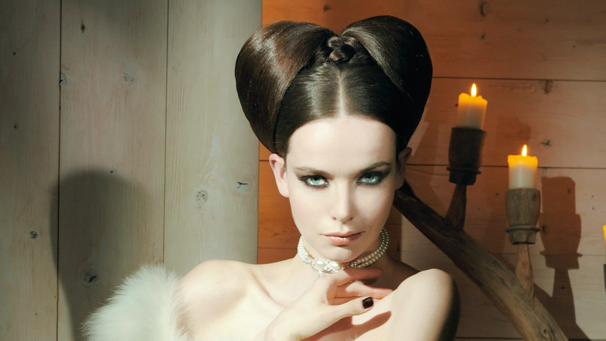 Updo With A Double Chignon That Brings Back Memories Of